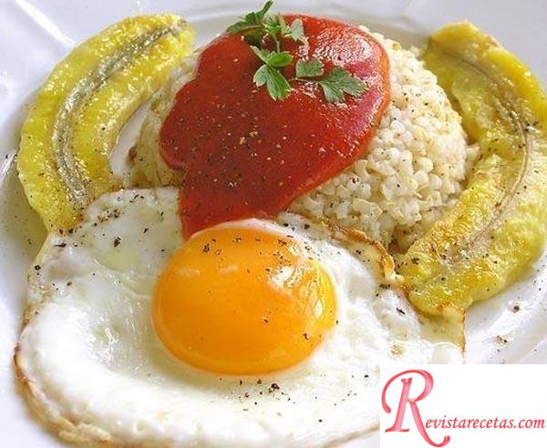Arroz a la cubana iii receta de cocina pastas y arroces - Calorias arroz a la cubana ...
